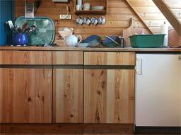 Ferienwohnung 3: Küche unten