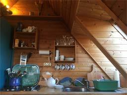 Ferienwohnung 3: Küche oben